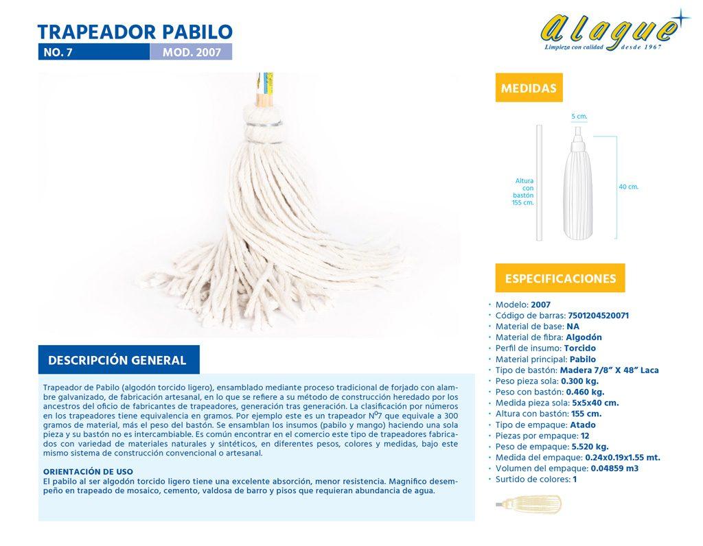 Trapeador Pabilo No. 7