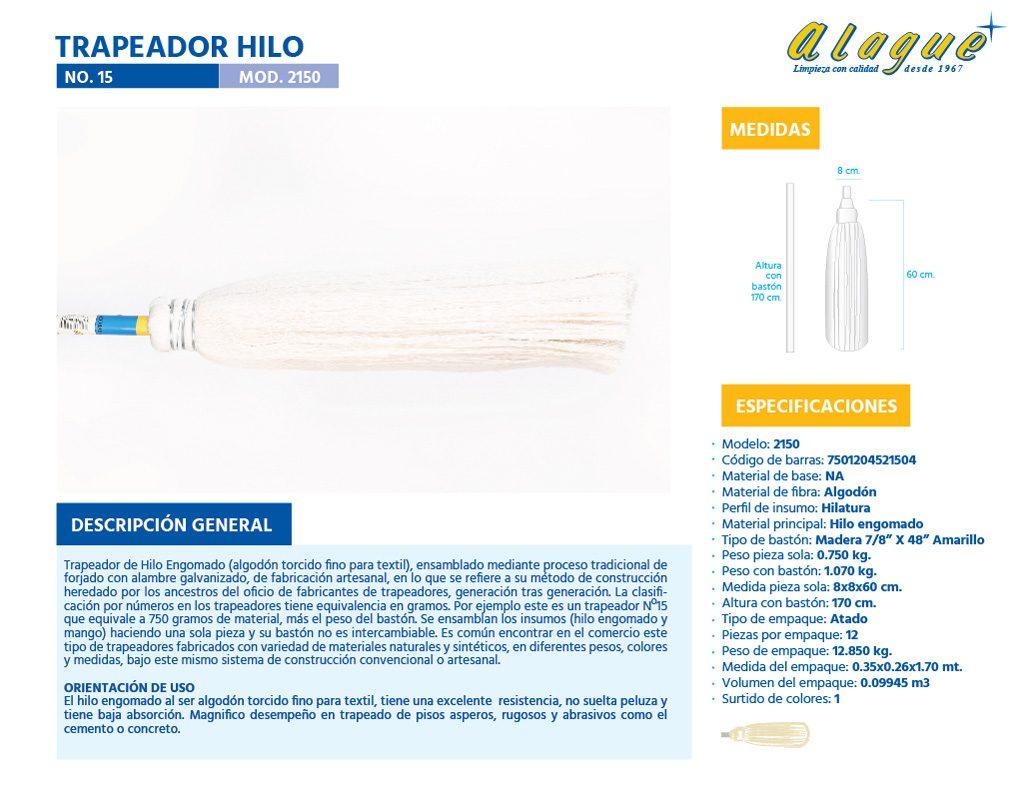 Trapeador Hilo No.15