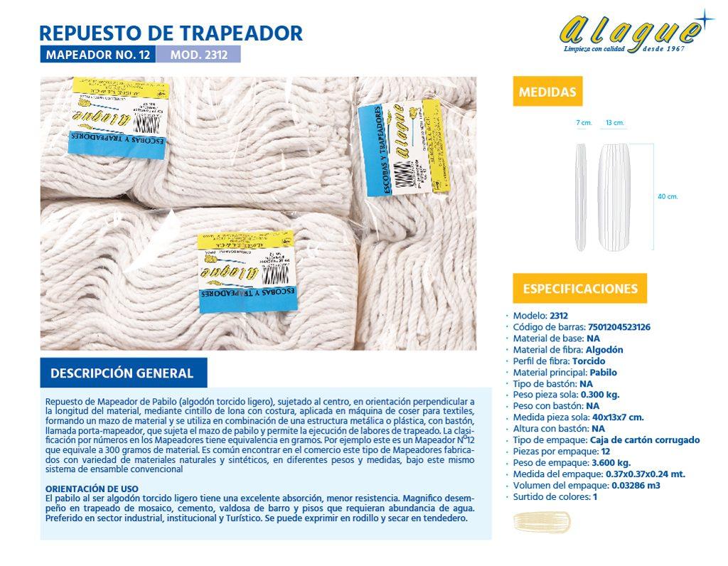 Rep. de Trapeador (Mapeador) No.12