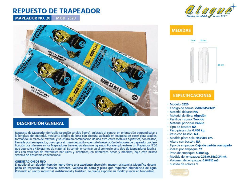Rep. de Trapeador (Mapeador) No.20