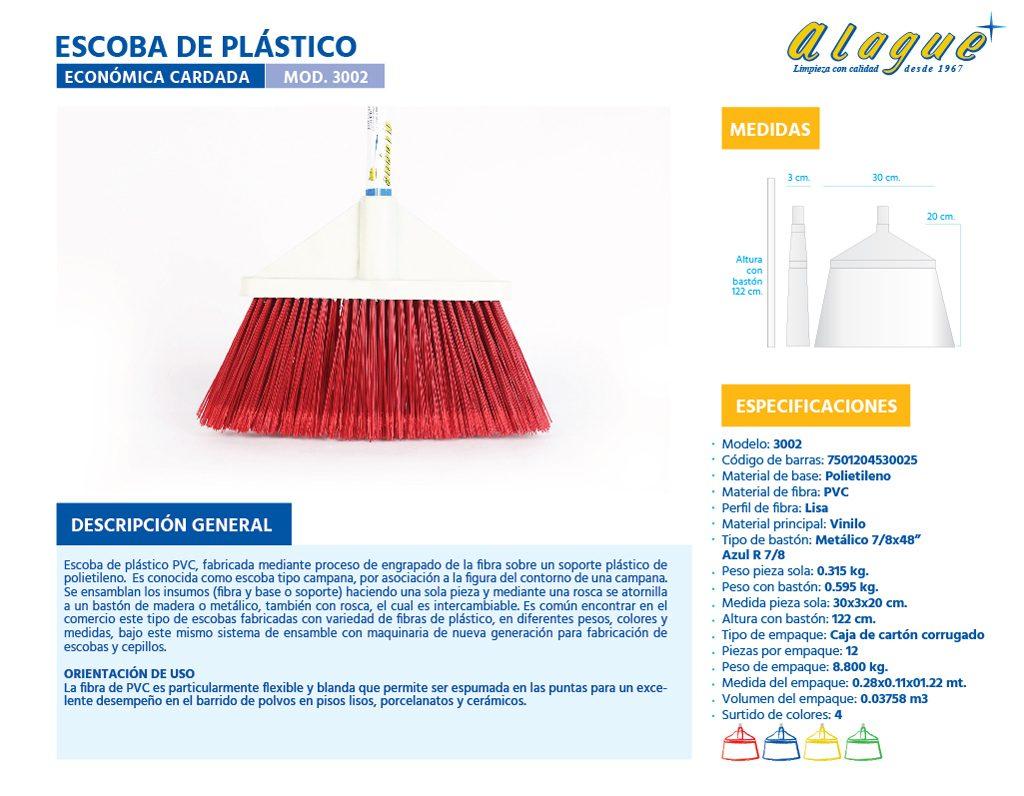 Escoba Plástico Econòmica Cardada