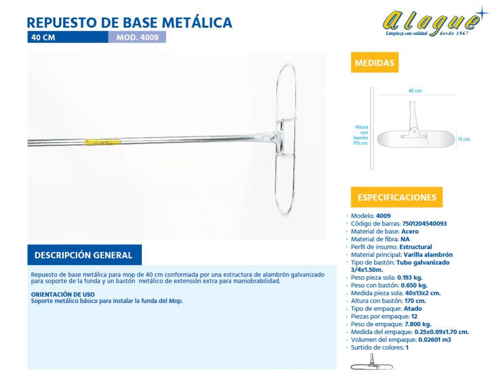 Repuesto de Base Metálica 40 Cms.
