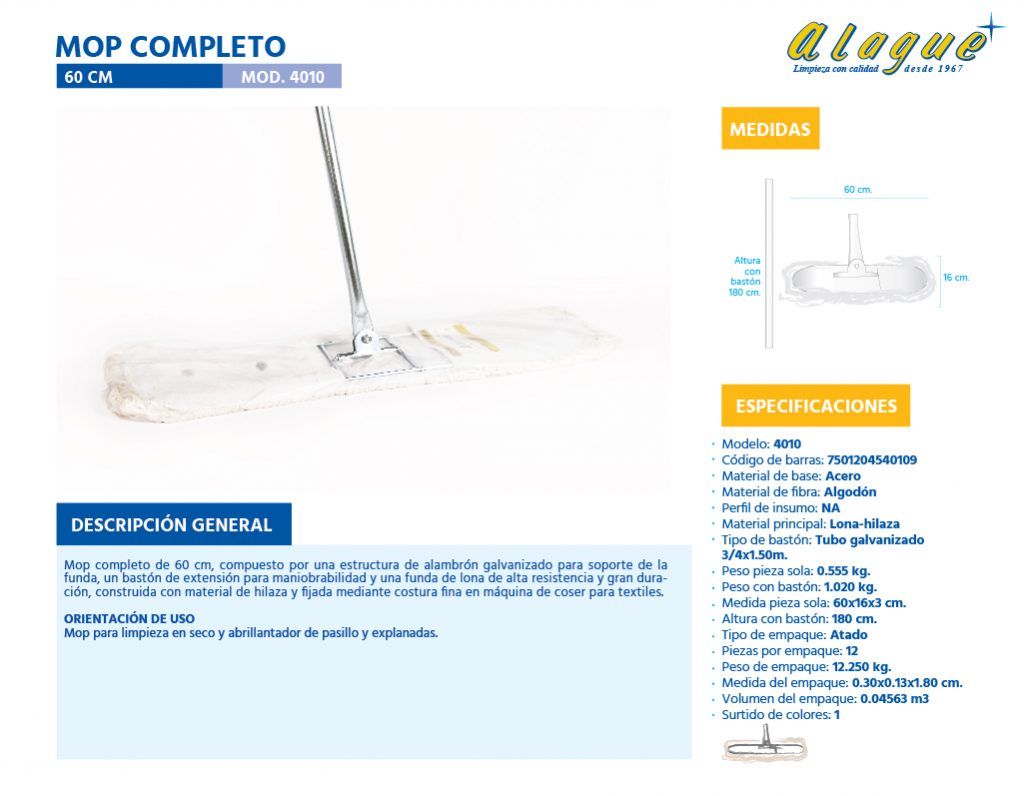 Mop Completo 60 Cms.