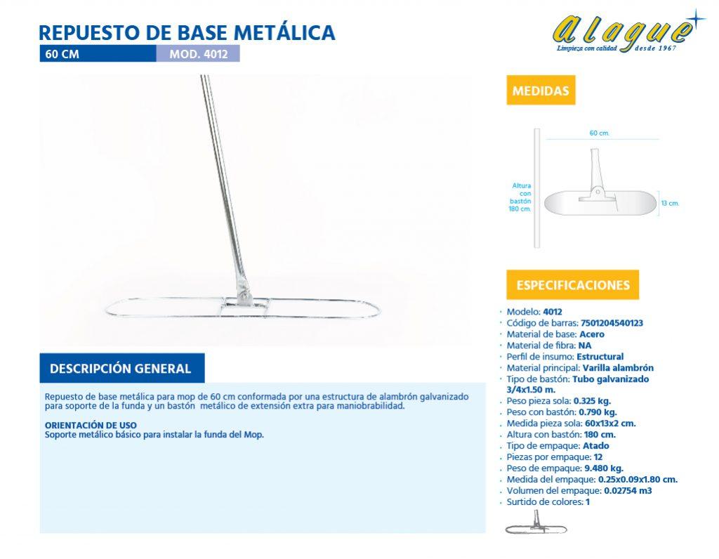 Repuesto de Base Metálica 60 Cms.