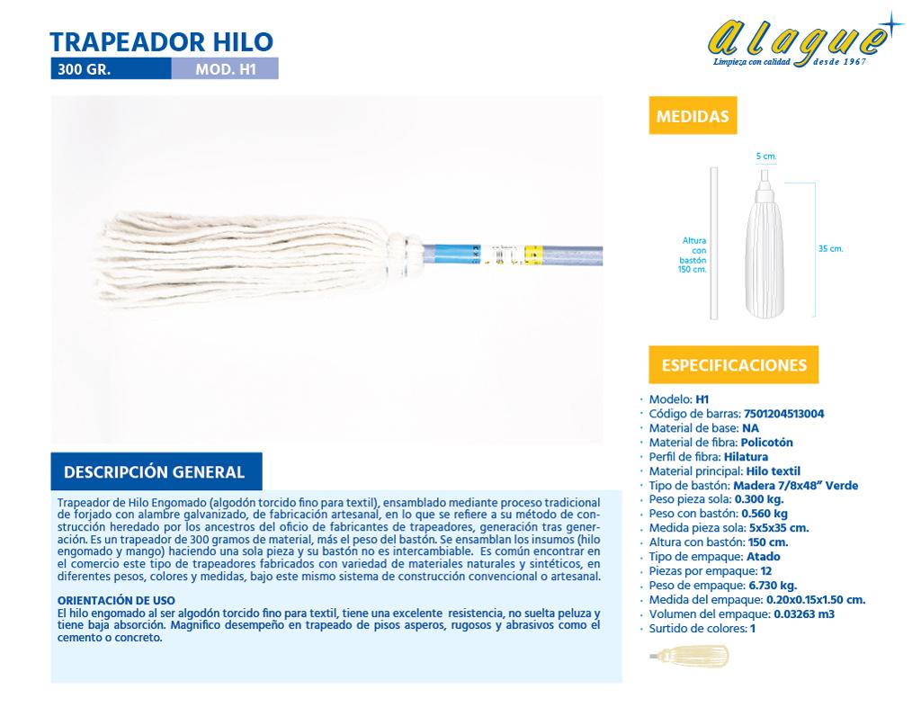 Trapeador Hilo 300 grs.