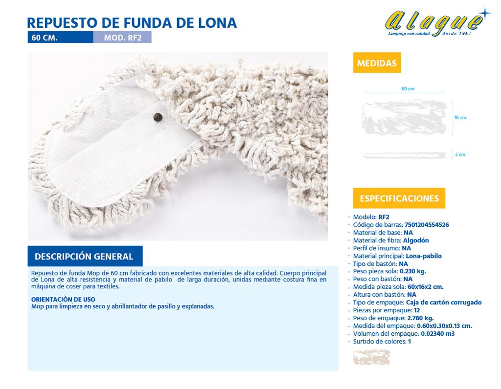 Repuesto de Funda de Lona  60 cms.