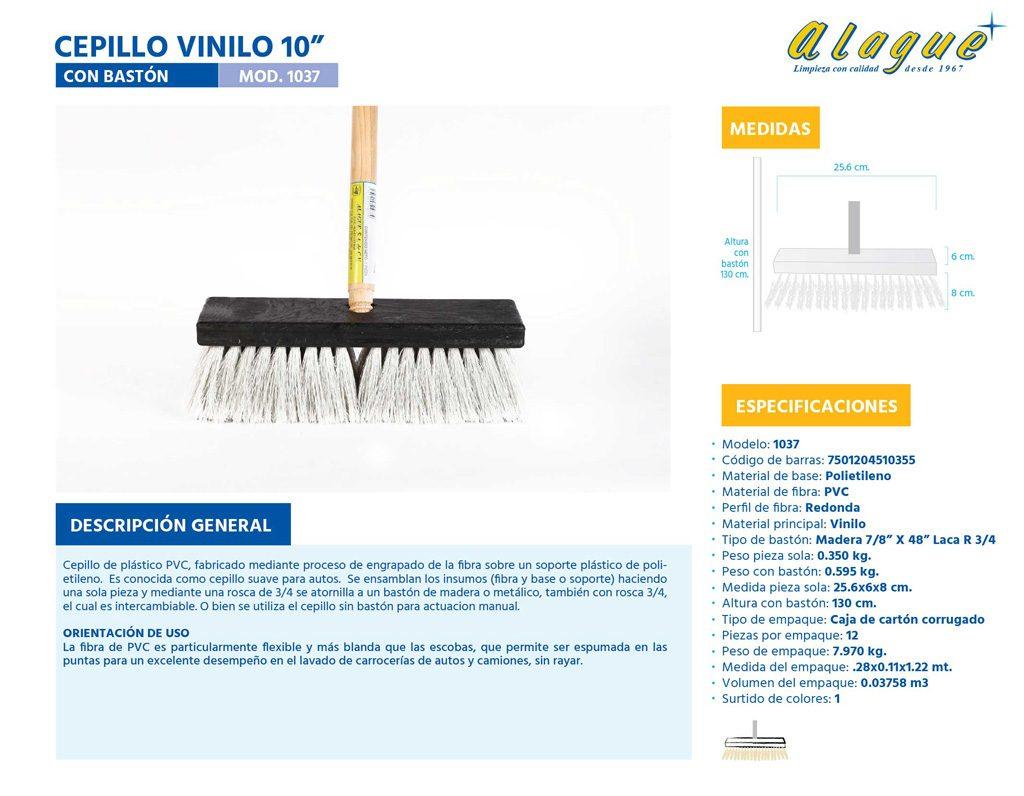 "Cepillo Vinilo 10"" con Bastón"