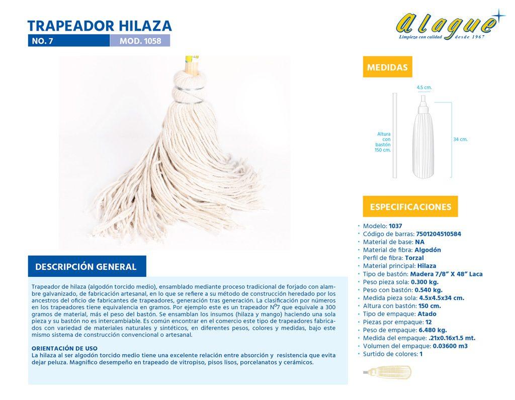 Trapeador Hilaza No. 7