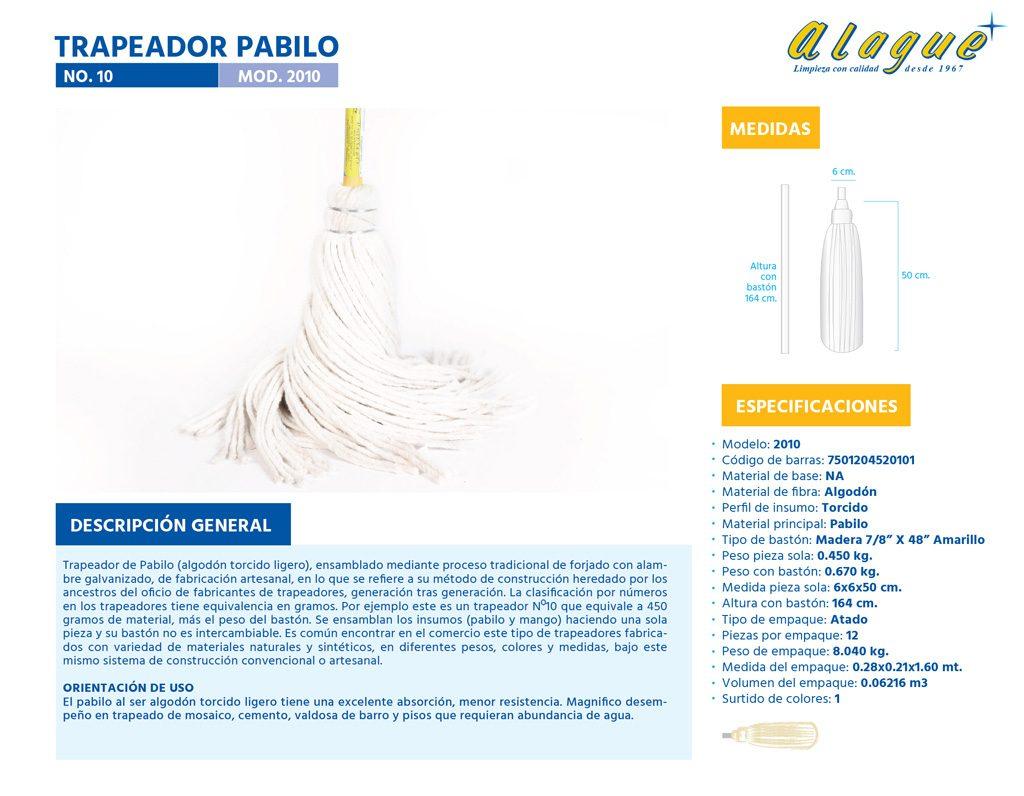 Trapeador Pabilo No. 10