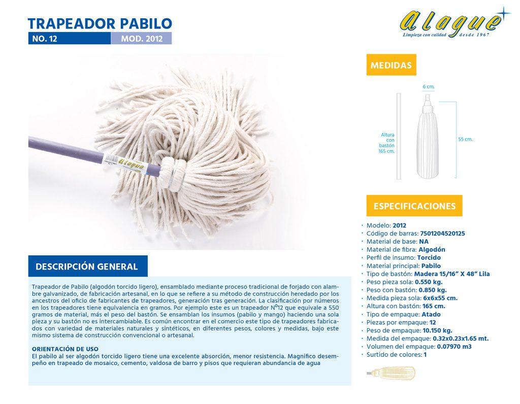 Trapeador Pabilo No. 12