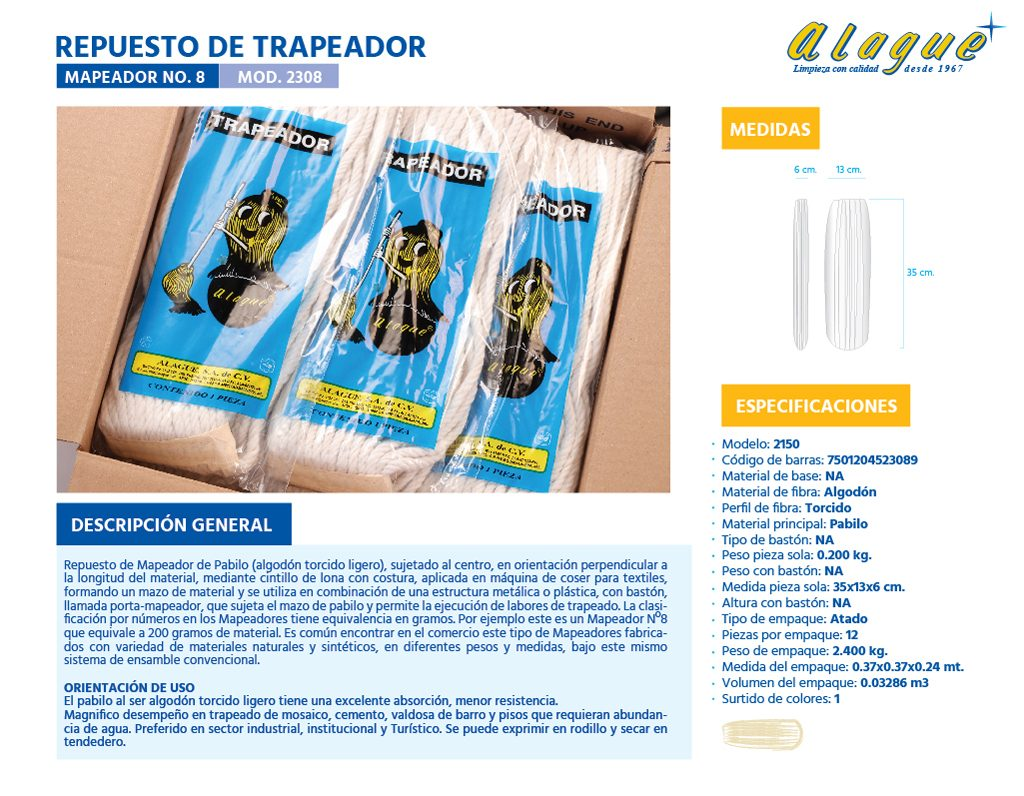 Rep. de Trapeador (Mapeador) No.8