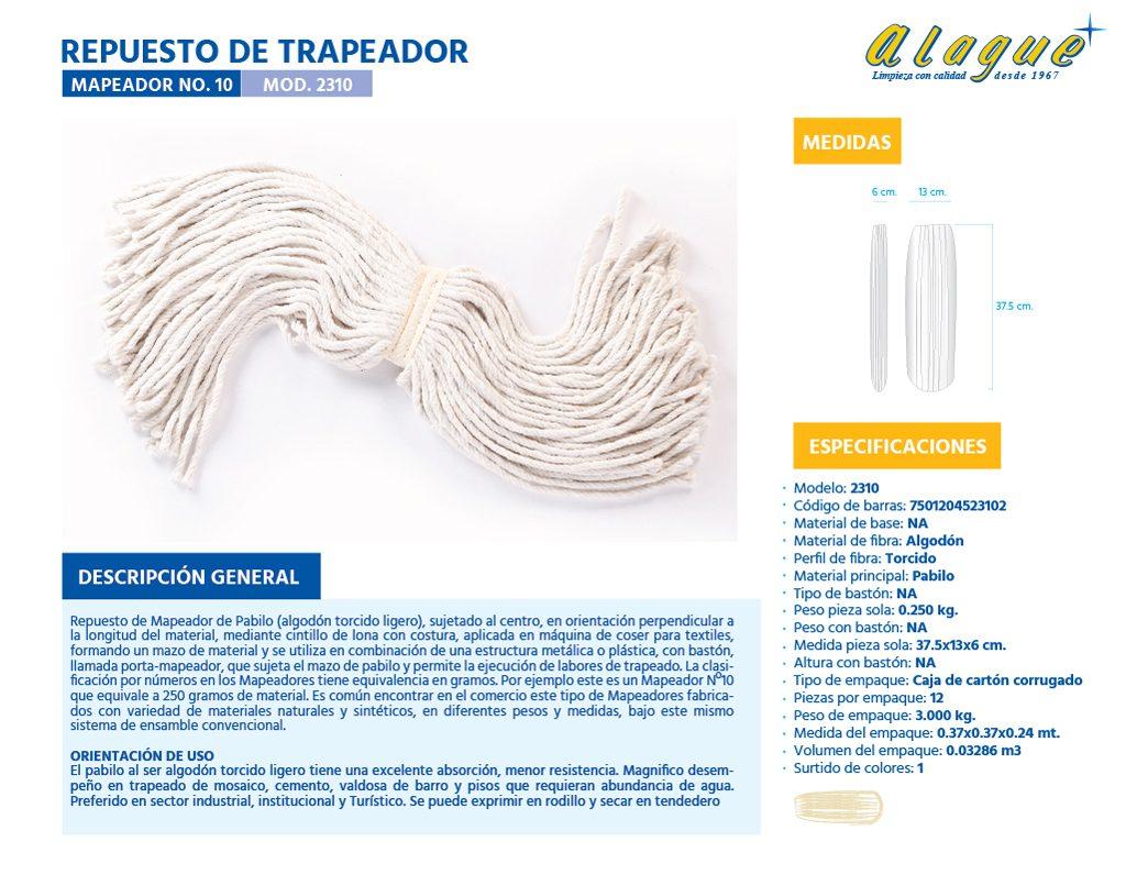 Rep. de Trapeador (Mapeador) No.10