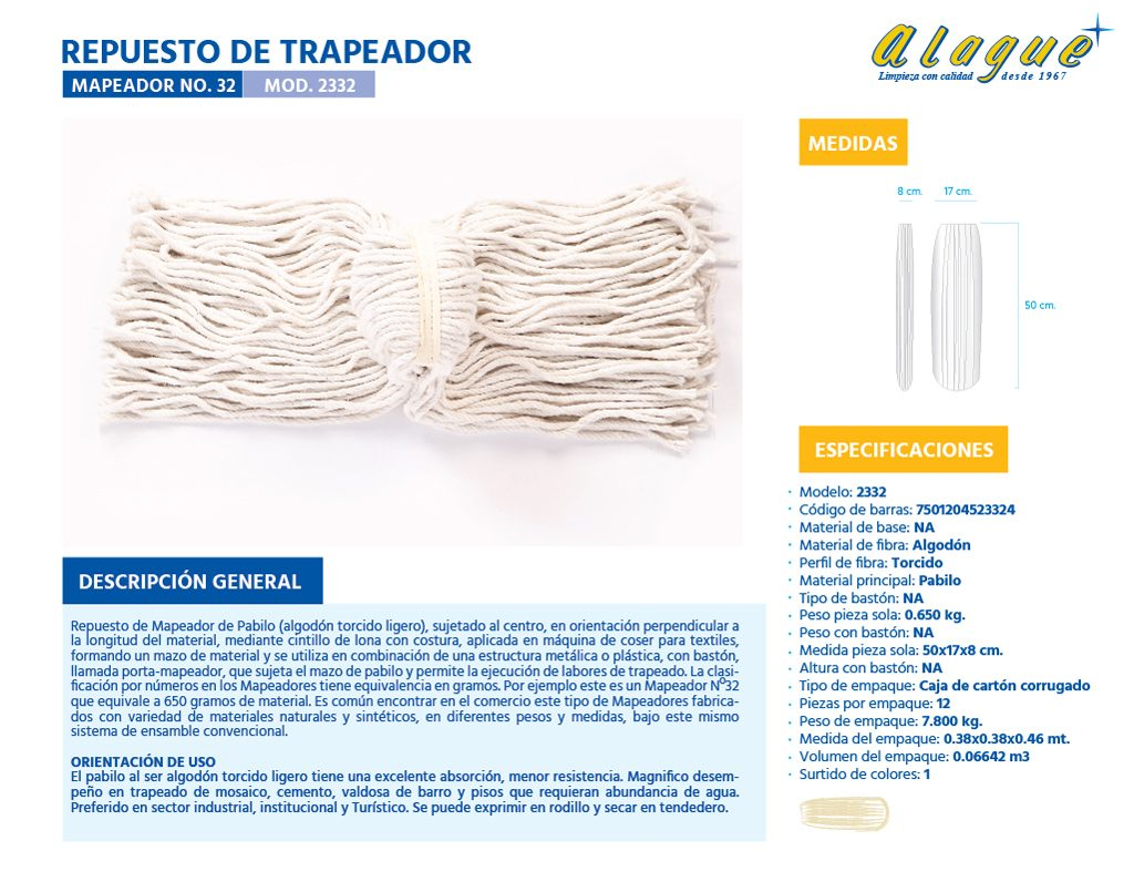 Rep. de Trapeador (Mapeador) No.32