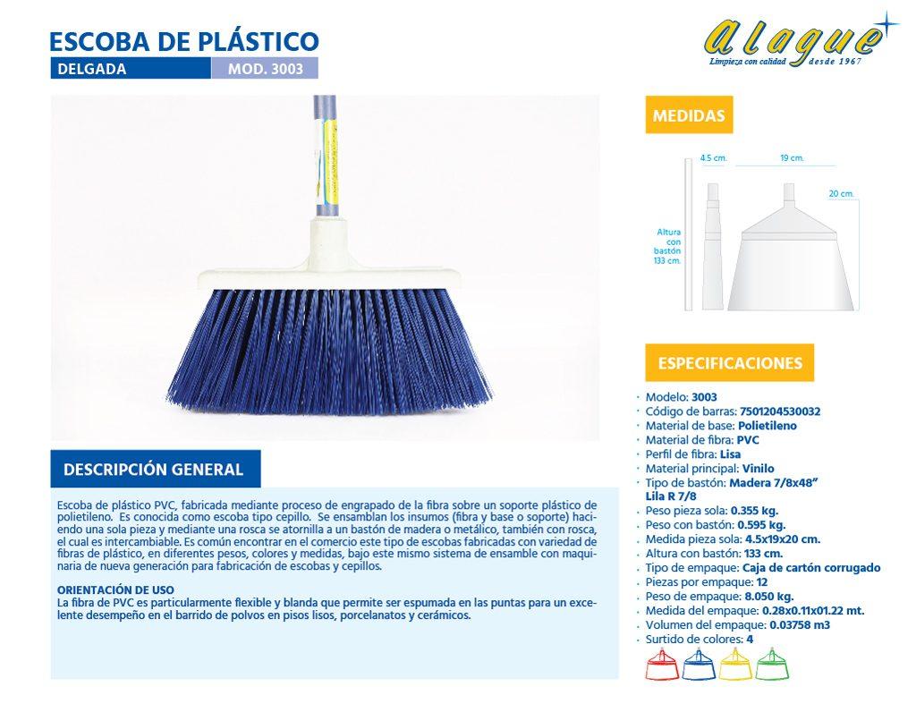 Escoba Plástico Delgada
