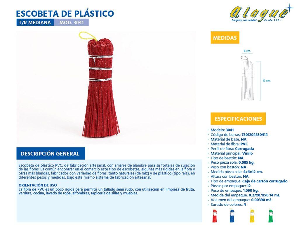 Escobeta Plástico T/R Mediana
