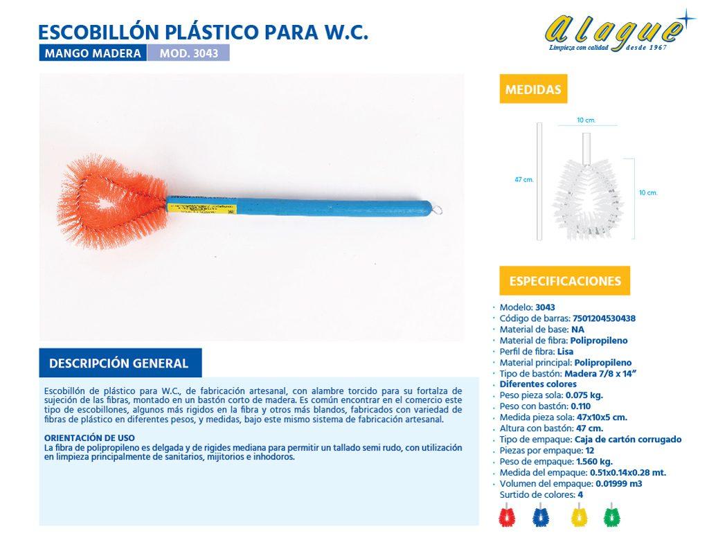 Escobillòn Plástico para W.C. (Mango Madera)