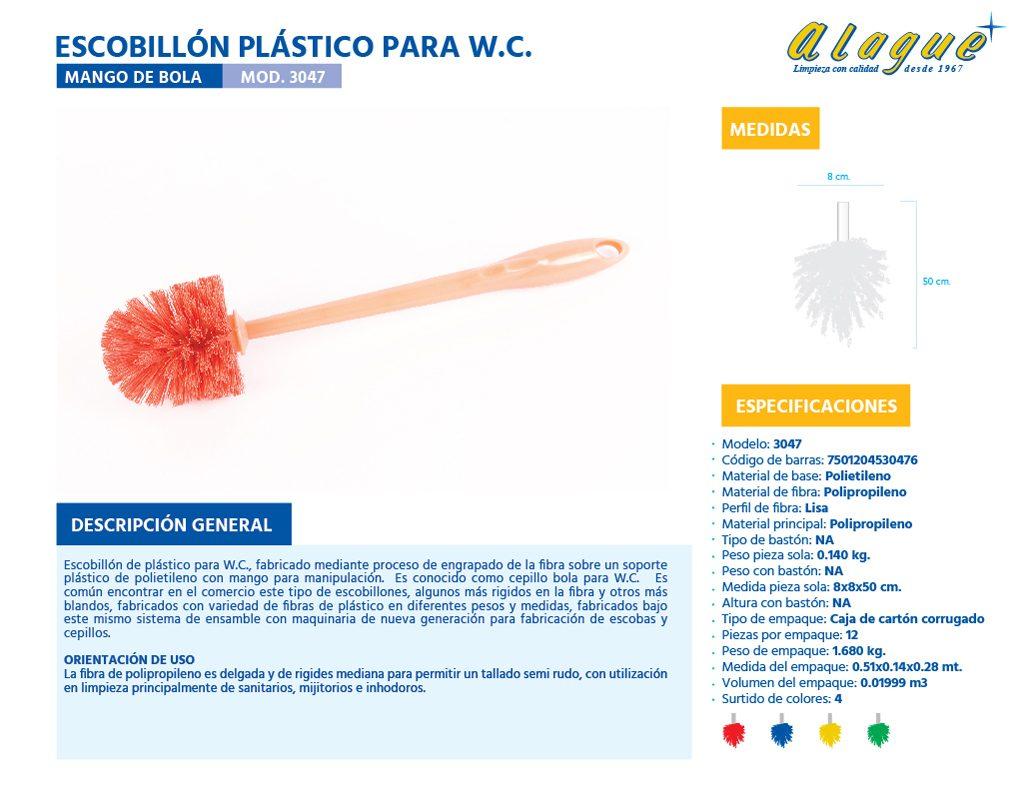 Escobillón Plástico para W.C. (De Bola)
