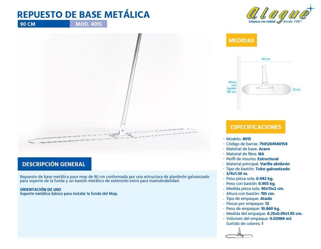 Repuesto de Base Metálica 90 Cms.