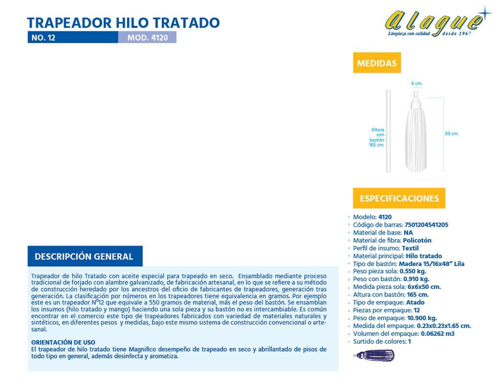 Trapeador Hilo Tratado No. 12