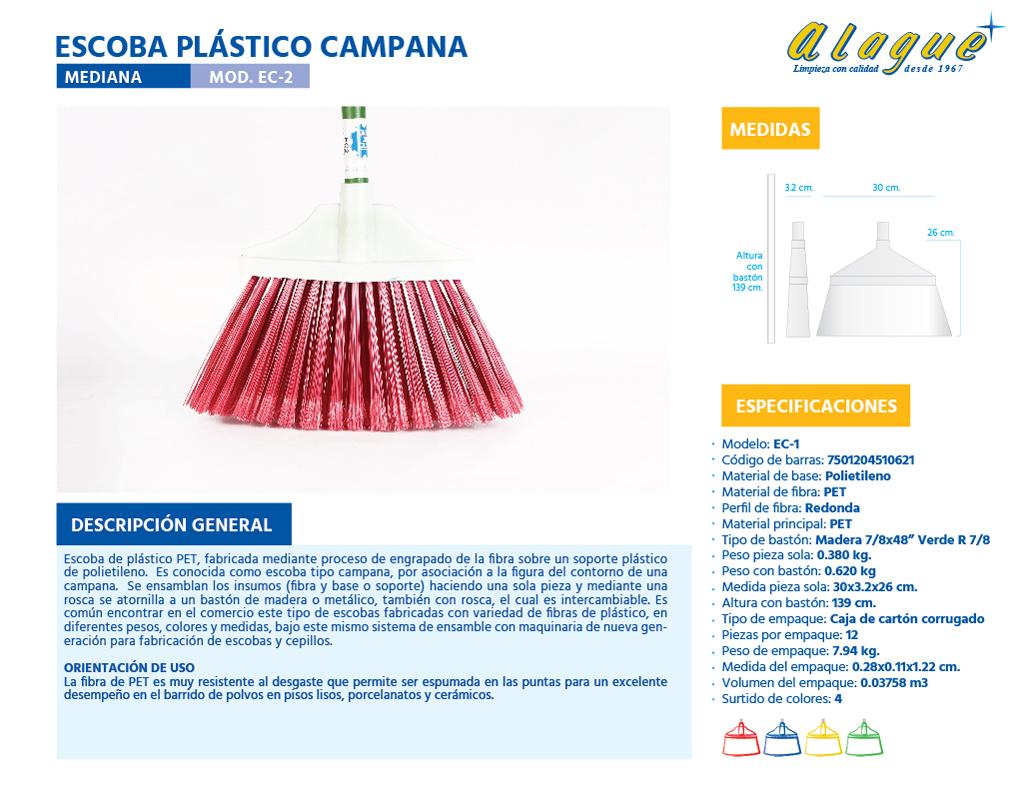 Escoba Plástico Campana Med.