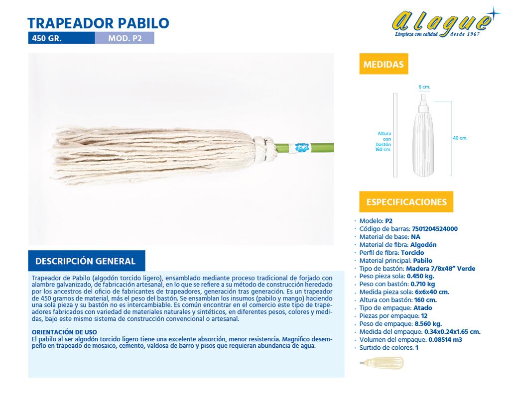 Trapeador Pabilo 450 grs.