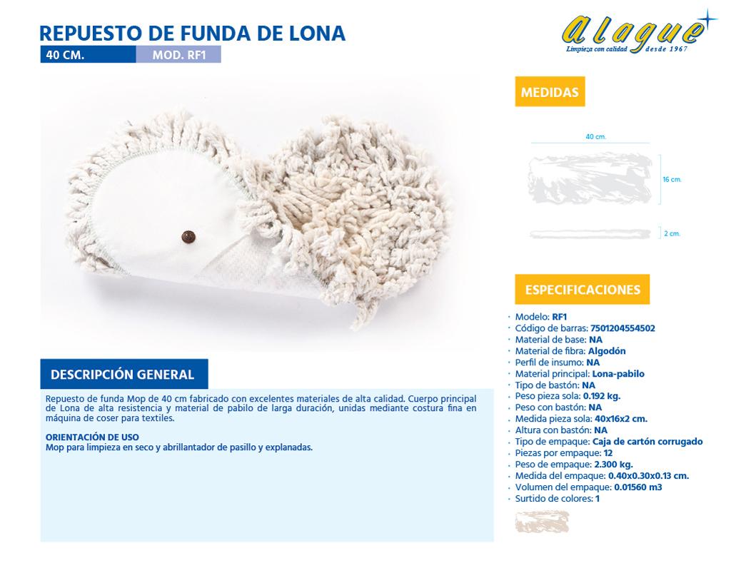 Repuesto de Funda de Lona  40 cms.